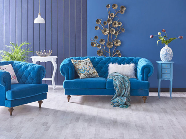 Wohnräume mit Blau einrichten