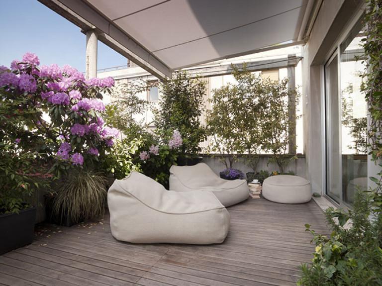 Sichtschutz auf Balkon